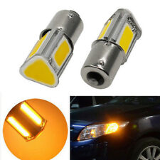 2X Amber 1156 Ba15s P21W 4 COB LED Turn Signal Rear Light Car Bulb Lamp DC 12V