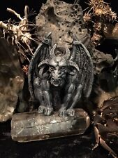 Mysterious Spooky Horned Gargoyle Beast Statue Cloven Hooves Wings Nose Ring