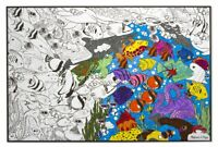 Kids Giant Large Colouring Poster Sea Life Art & Craft Activity - Melissa & Doug