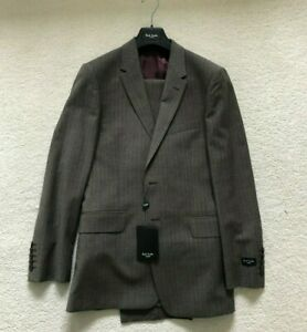 "Paul Smith ""The Floral"" Taupe with feint stripe 2 btn Single Brstd Suit - 36/46"