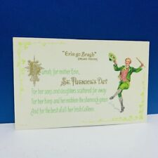 St Patricks Day postcard antique vtg paper ephemera Erin Go Bragh leprechaun vtg