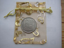 1938 20 French franc 68 silver coin+gift bag for 83rd Birthday card France 83