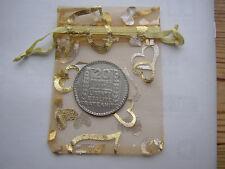 1938 20 franc français 68 Pièce Argent + Sac Cadeau Pour 81st Anniversaire Carte De France 81