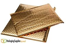 200 Pcs 13 x 17.5 Metallic Bubble Mailers Shipping Envelope Bags Gold