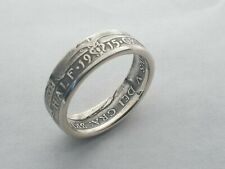 1915 Half Crown Coin Ring .925  Silver Size  'Y'  7.25mm Wide Band  8.70gr