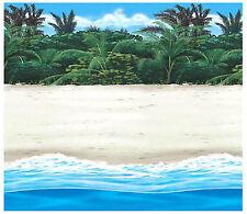 Beach Scene Setter Room Roll ~ Luau, Summer, Hawaiian Birthday Party Decorations
