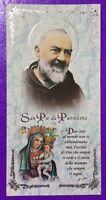 SANTINO HOLY CARD, SAN PIO DA PIETRELCINA -RIF. 7497