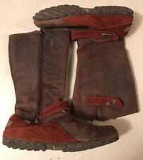 4817181ed07e4 MERRELL Waterproof BOOTS Womens Size 6 Cinnamon Leather Zip Flats