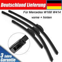 NEU Scheibenwischer Komplett Set für Mercedes A-Klass W168 W414 vorne + hinten