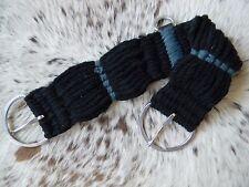 Noir 27 Chapelet Cordes Bande 68.6cm Plat Inoxydable Boucles Nouveau