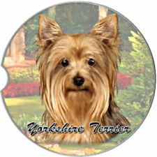 E&S Pets Absorbent Car Coaster Dog Breed Stoneware Yorkshire Terrier Yorkie