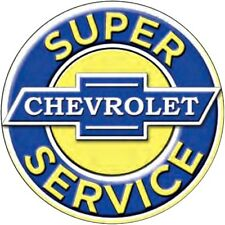 "Chevrolet Chevy Super Service 12"" Round Metal Tin Sign Retro Home Garage Decor"