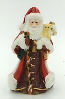 VTG Ceramic Santa St Nick  Christmas Holiday Glitter Figurine Collectible 6""