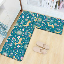 2pc/set Non-Slip Door Mats Flannel Soft Area Rug Anti Fatigue Kitchen Floor Mats