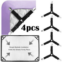 4pcs Bed Sheet Straps Grippers Fasteners Clips Holder, for Mattress Sofa Covers
