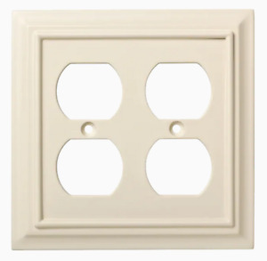 Brainerd W10767-LAL Lt Almond Architect Double Duplex Wall Plate Cover
