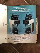 Vtg Bunnomatic Coffee Brewer & Other Machines Installation Repair Manuals Bunn