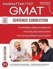 GMAT Sentence Correction (Manhattan Prep GMAT Strategy Guides) NEW FREE SHIP
