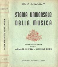 Storia universale della musica. . Ugo Riemann. 1950. VIED.