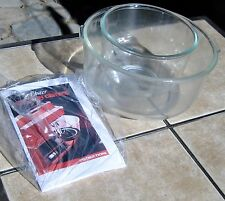 SET OF GLASS BOWLS WITH INSTRUCTIONS FOR OSTER KITCHEN CENTER