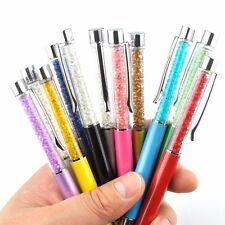 12pcs Simple Crystal Diamond Stylus Pen Ballpoint Pens Office School Stationery