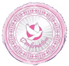 "Confirmation Pink Girl Party Decorations 18"" Foil Balloon"
