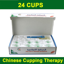 24 Cups Kit Hijama Cupping Tradtional Chinese Medical Cure Therapy 8 Magnets UK