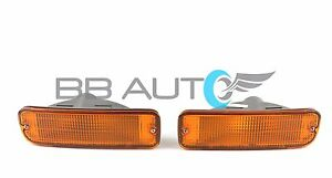 NEW FRONT BUMPER PARK SIGNAL LIGHTS W/ BULB SET FOR 1998-2000 TOYOTA TACOMA 2WD