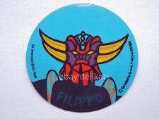 ADESIVO Sticker card vintage UFO ROBOT GOLDRAKE 1978 nome FILIPPO