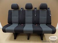 Wide Bench rear triple seat VW Crafter Mercedes Sprinter Isofix NEW