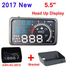 "ASH-4C 5.5"" Car HUD Head Up Display OBDII Fuel Consumption Speed Warning System"