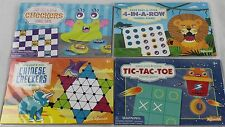 NEW Case of 48 Magnetic / Sticker Reusable Travel Games 4 Games 12 Of Each Game