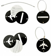 2017 Aluminium Luggage Tags Suitcase Label Name Address ID Bag Baggage Travel AA
