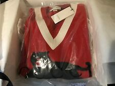 Men's Gucci red panther tiger sweater stitched black large L