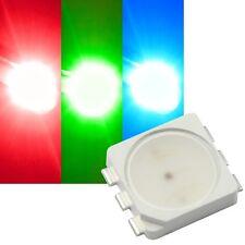 10x RGB SMD LEDs 5252, SAMSUNG LED, 3-Chip PLCC6 FULLCOLOR HIGHPOWER SMDs / 5050