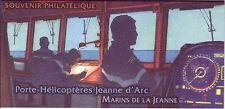 TIMBRE BLOC SOUVENIR PORTE HELICOPTERE JEANNE D' ARC