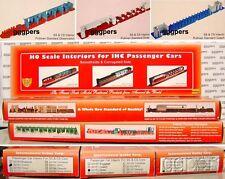 HO Train IHC 3 Interiors for SS & CS Passenger Cars