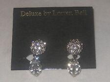 Estate Deluxe By LORREN BELL Swarovski Crystal Button Drop Dangle Earrings