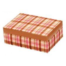 Pink Plaid Summer Jewellery Box Case Tartan design Ladies Gift   20309