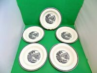 Wedgwood Lugano Rimmed Soup Bowls x 5