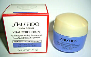 (179,93€/100ml) SHISEIDO Vital Perfection Overnight Firming Treatment CREME 15ml