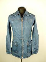 Vintage 1970's Women's Levi's Denim Long Chore Jean Jacket  - Blue - Size 10