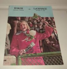 Vintage '63 High School Football Program Georgia Baker LaGrange Memorial Stadium
