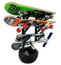 StoreYourBoard Skateboard Rack 3 Boards Strong iron hanging fixture Easy designe