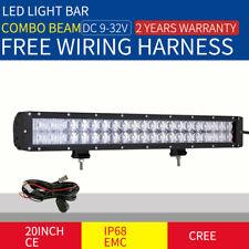 20INCH 29400W CREE LED DRIVING LIGHT BAR SPOT FLOOD COMBO BLACK OFFROAD WORK 4x4