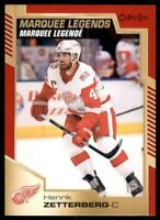 2020-21 UD O-Pee-Chee Red Border Marquee Legends #535 Henrik Zetterberg