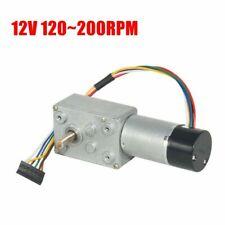 Dc12v Turbo Worm Gear Box High Torque Geared Reduction Motor Encoder 120200rpm