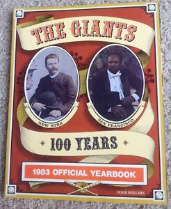 """1983 Team Issued SAN FRANCISCO GIANTS Media Guide Yearbook """"100 YEARS EDITION"""""""