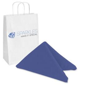 "10 pcs 17""x17"" inch Polyester Cloth Napkin - Navy Blue - Wedding Linen xn"