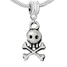 Pirate Skull Bead Compatible for Most European Snake Chain Bracelet